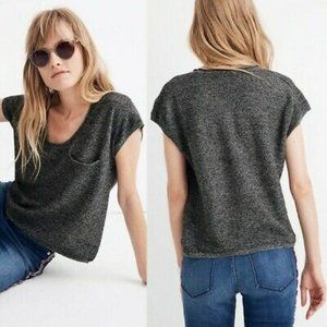 Madewell watermoor short sleeve linen blend blouse size small
